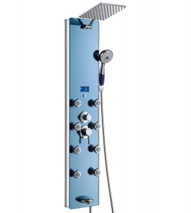 akdy 52 inch tempered aluminum handheld rainfall shower az 878392h