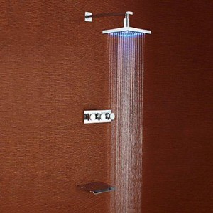 baqi home modern led 8 inch wall mount showerhead b0162d1mrs