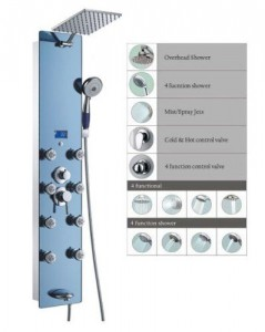 blue ocean 52 inch stainless adjustable shower sps392h
