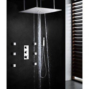 faucetaleer 20 inch dual brushed thermostat shower b016nmmyt8