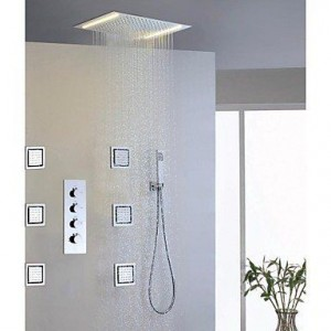faucetaleer alternating current led embeded rainfall showerhead b016nmr2q8