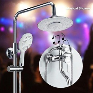 faucetdiaosi 8 inch bluetooth musical handshower b0160o5hes
