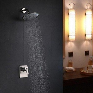 faucettuandui wall mount nickel brushed rain shower b016kutrvg