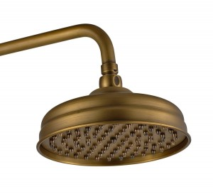 guma traditional 8 inch antique brass showerhead b00y04b2ze