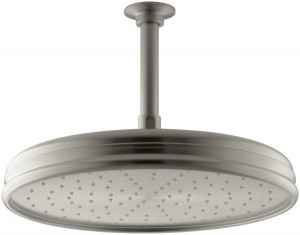 kohler 8 inch traditional brushed nickel rainhead k 45202 bn