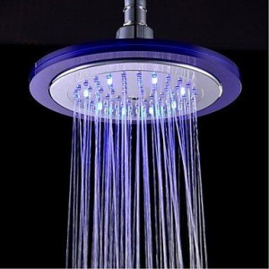 lanmei bathroom faucets 8 inch temperature control led showerhead b013tf0rvy