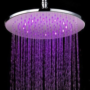 lanmei bathroom faucets led 12 inch contemporary showerhead b013tf13fs