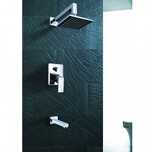 liudaoy wall mount contemporary chrome rain shower faucet b0166eyla8