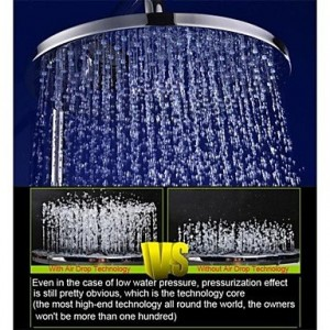 qw 10 inch brass air injection water saving eco friendly rainfall b016bcdqni