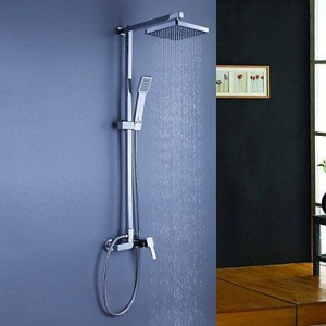 qw contemporary brass chrome rain handshower b016bceq6e