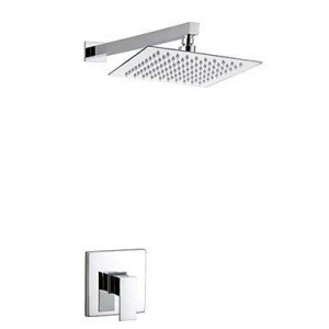 qw contemporary brass chrome rain shower b016bc83fo