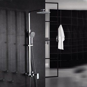 qw contemporary brass chrome waterfall shower b016bcbvl2