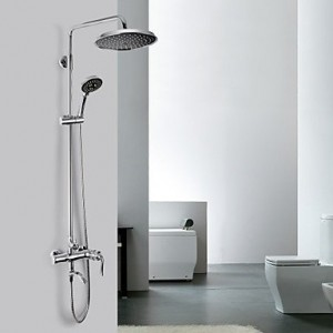 qw contemporary chrome finish a grade abs shower faucet b016bc0rl2