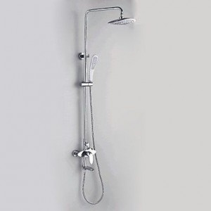 qw contemporary chrome hand showerhead b016bbzhw2