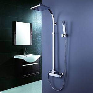 qw contemporary tub shower faucet with 8 inch shower head b016bc9ksi