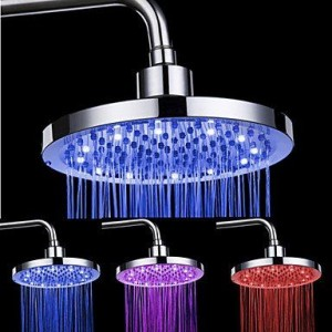 qw led contemporary abs chrome rain shower b016bcc72y