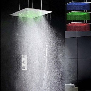 roro faucet 20 inch led temperature sensitive showerhead b0165lus4u