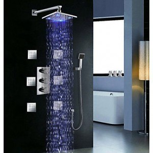 roro faucet 8 inch triple handle thermostatic shower b0165lp0os