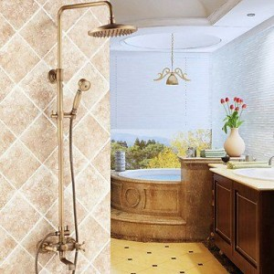 shanshan bathroom faucets 8 inch antique brass shower b013tecn7q