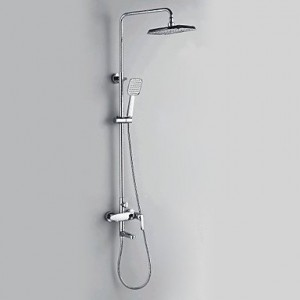 xiaocao chrome finish contemporary style shower faucets b016mm5oeq