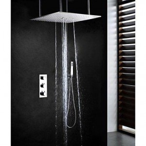 xiaocao home 20 inch thermostatic brushed shower b016mlpdf2