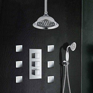 xiaocao home 8 inch thermostatic chrome brass shower b016mlon5s
