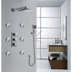 xiaocao home led wall mounted chrome shower b016mlpauk
