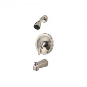 pfister one handle brushed nickel tub shower r89 030k