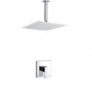 qw new modern bath bathroom 8 inch ceiling mounted rain valve chrome b016bc6bxk