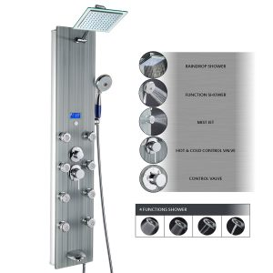 akdy multi function 4 setting handheld showerhead 7