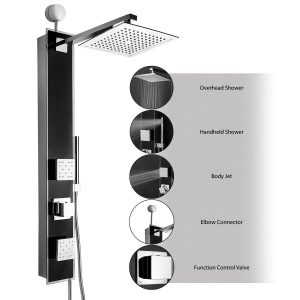 akdy wall mount multi function showerhead 6