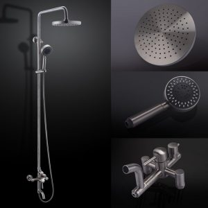 kes x6650a stainless steel showering system 5