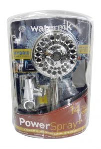 waterpik power spray stainless handheld showerhead