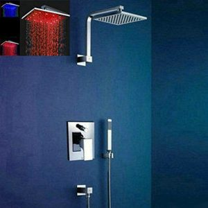 "Detroit Bathware Lk-8 LED 8"" Rainfall Showerhead"