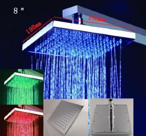 "Fontana BST-LED0522-08 LED 8"" Water Power Luxury Shower"