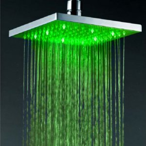 Jiayoujia 8 Inch Brass LED Hand Showerhead 0020149-7