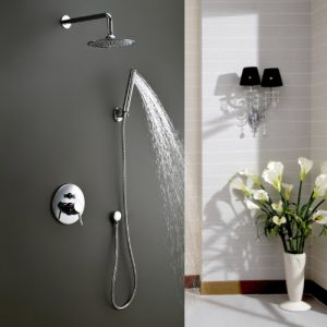 Lightinthebox Contemporary Single Handle Chrome Solid Brass Shower