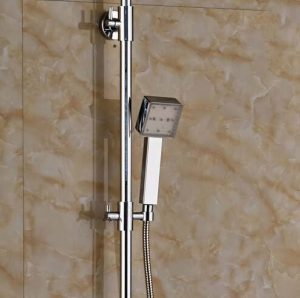 Senlesen SE4551 10 Inch Chrome Brass LED Rain Handshower