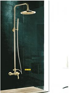 Detroit Bathware Y41001 Golden Wall Mount Showerhead