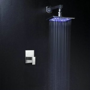 "Detroit Bathware Ys 7002 Rainfall Wall Mounted 8"" Led Showerhead"