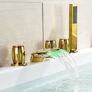 Rozinsanitary Deck Mount LED Waterfall Handshower