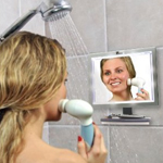 toilettree deluxe led fogless shower mirror with squeegee 5