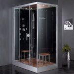 ariel platinum left side drain steam shower