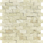 botticino marble split faced mosaic tile 3