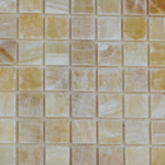 honey onyx polished mosaic tiles meshed 5