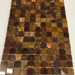 red onyx polished mosaics meshed 1