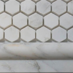 white marble hexagon polished mosaic tiles 2