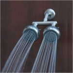 Brushed Nickel Double Showerhead