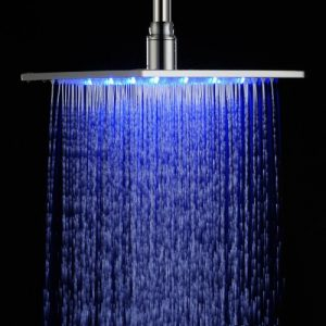 "Detroit Bathware C96524 Stainless Steel 12"" LED Rain Showerhead"