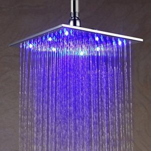 Detroit Bathware Y63525 10 - Inch LED Temperature Sensitive Showerhead